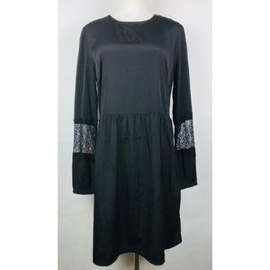 NEW Asos Dress Size 10 Black Long Sleeve Lace
